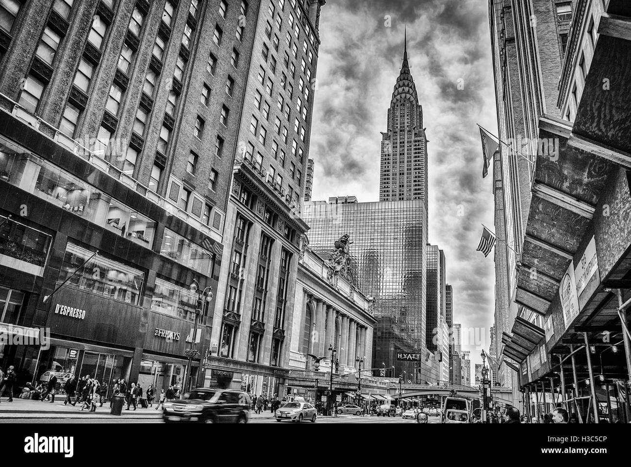 Atmosphere over the Chrysler Building - Stock Image