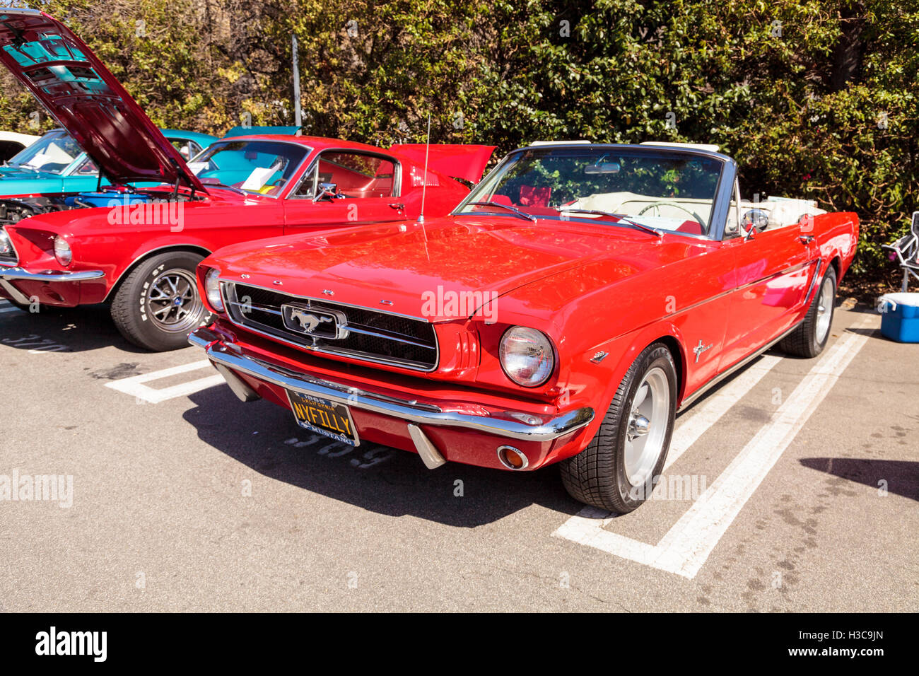 Laguna beach ca usa october 2 2016 red 1965 ford mustang