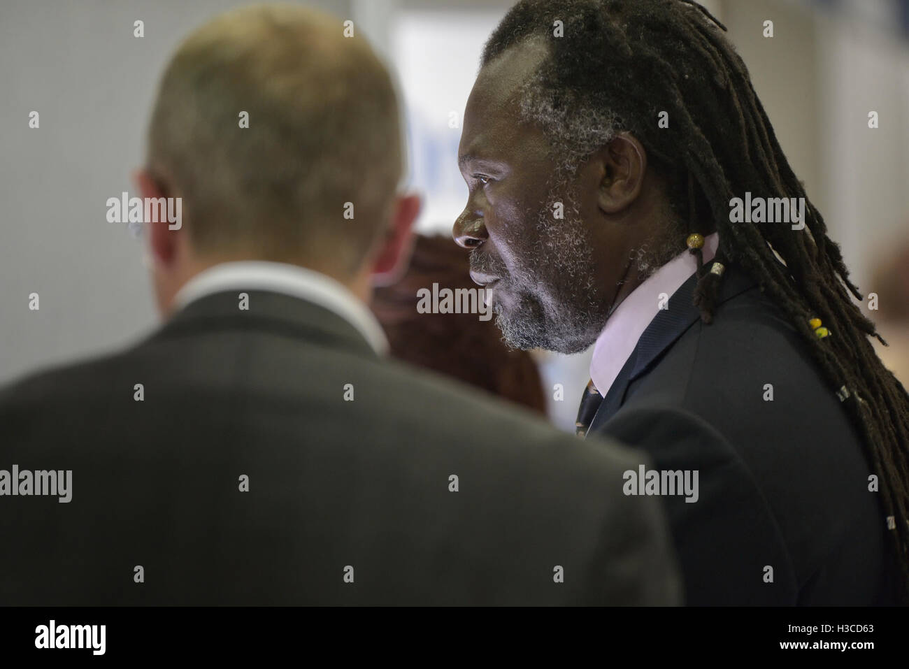 Guest speaker Levi Roots at a Let's do Business exhibition in Hastings. England. UK - Stock Image