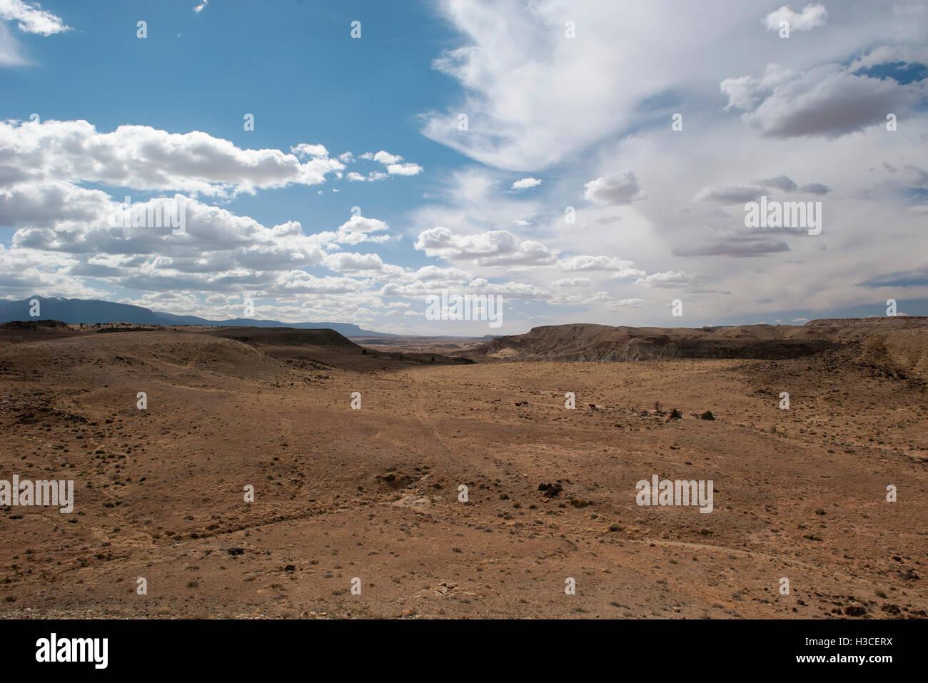 Desert landscape in the Four Corners region of Southwestern USA - Stock Image