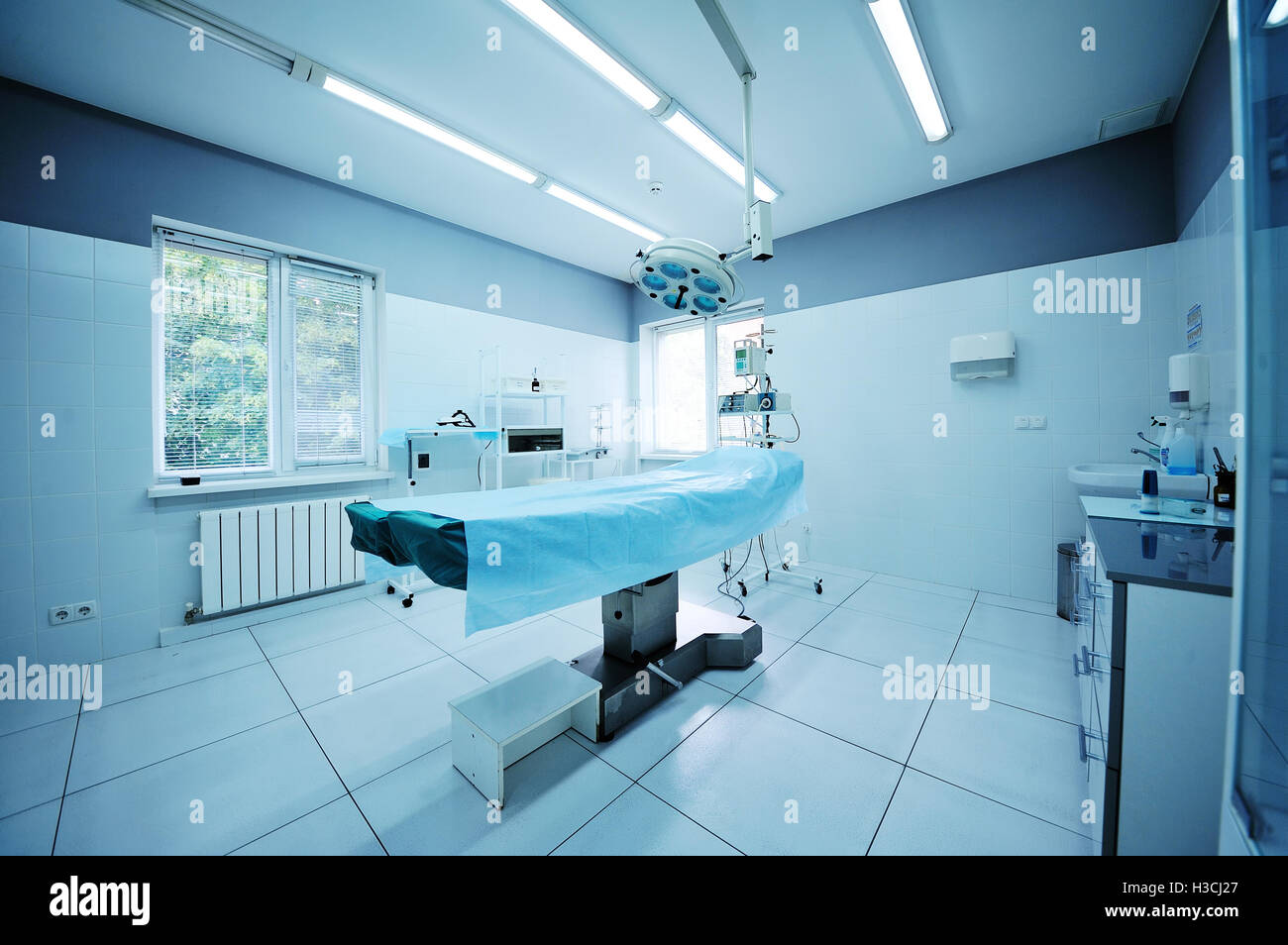 beautiful interior of a surgical operating - Stock Image