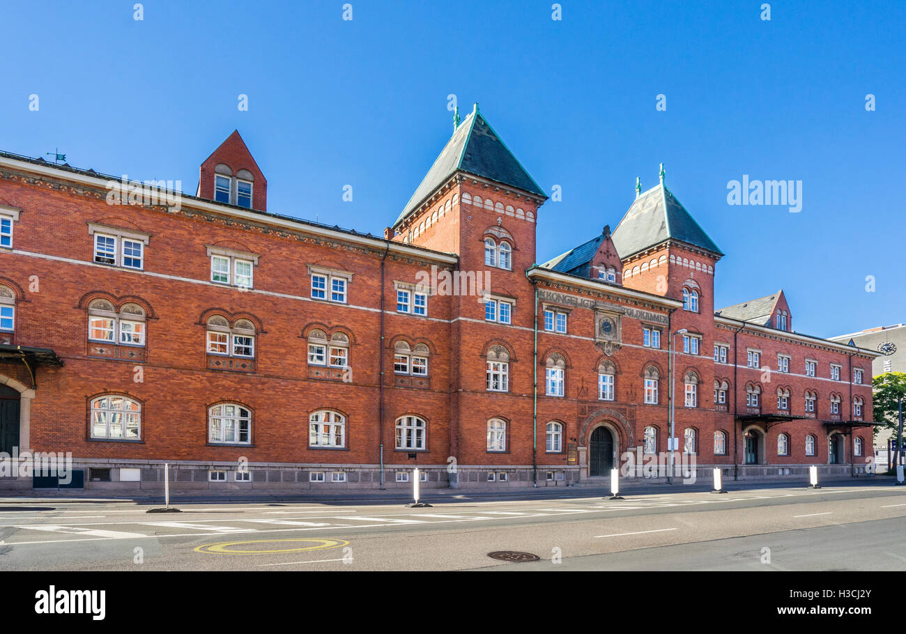 Denmark, Funen, Odense, view of the Kongeligt Toldtkammer, the historic Customs Office - Stock Image