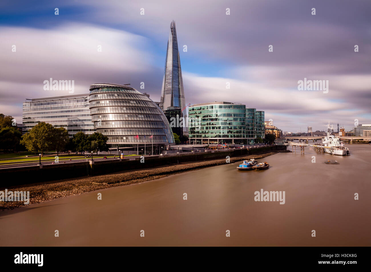 London Skyline and The River Thames, London, UK Stock Photo