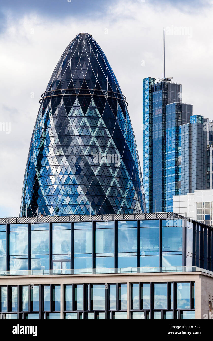 30 St Mary Axe (The Gherkin) London, England - Stock Image