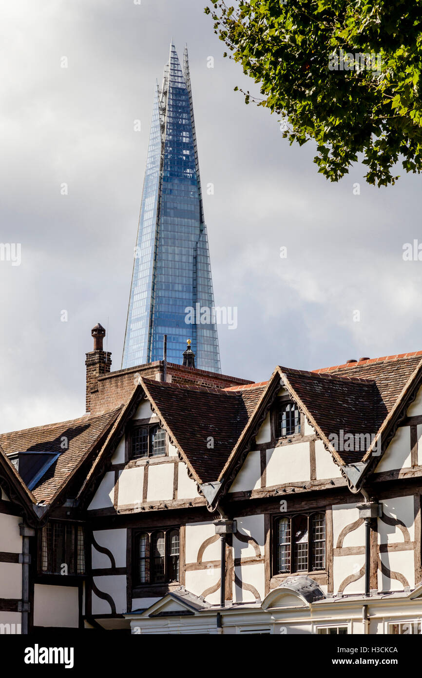 The Shard Taken From Inside The Tower Of London, London, England - Stock Image