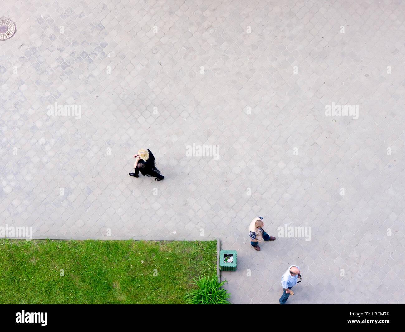 GOMEL, BELARUS - MAY 26: A man walking down the street on May 26, 2016 in Gomel, Belarus. - Stock Image