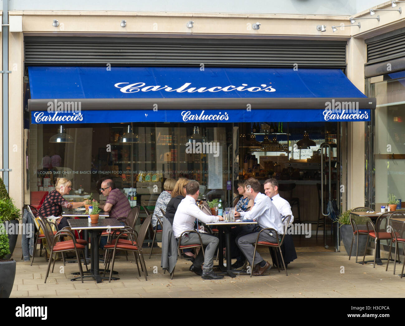 A Chain Of Italian Restaurants In Uk Stock Photos A Chain Of