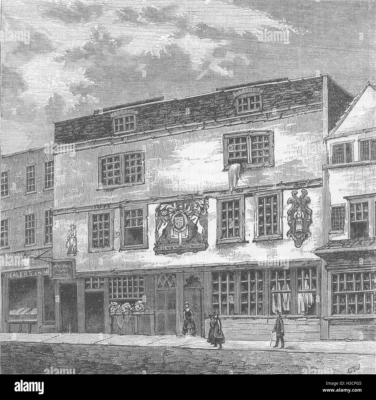 THEATRE The Fortune theatre c1880. 'Old & New London', Cassell & Co - Stock Image