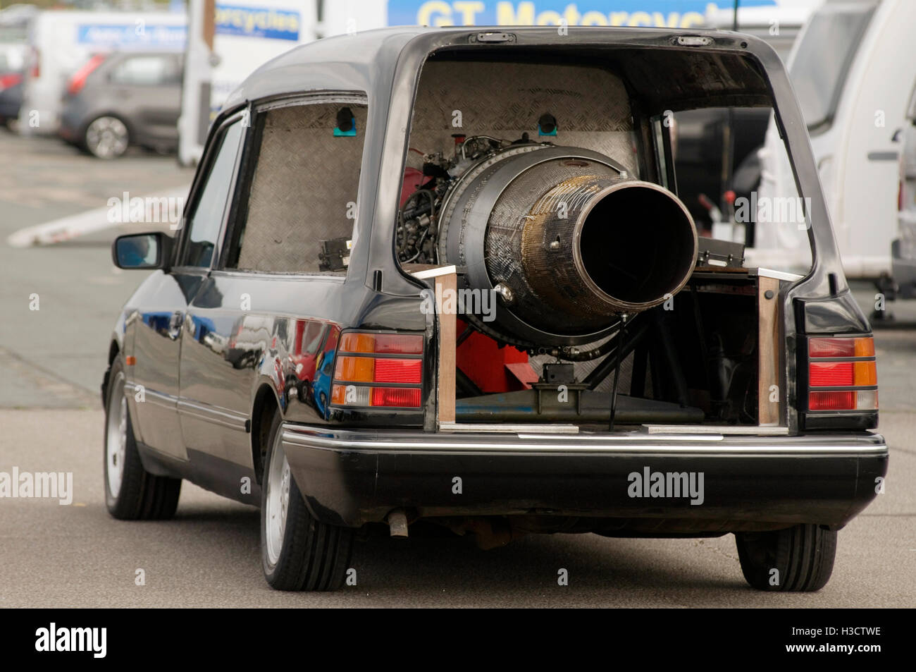 jet engined powered Hearse - Stock Image