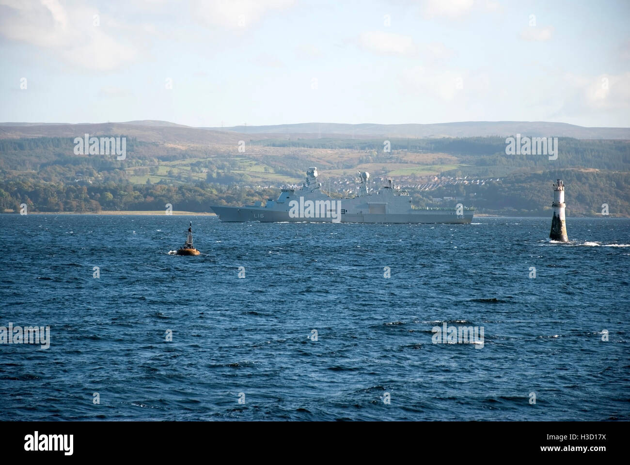 H.D.M.S. Absalom NATO L16 Warship River Clyde Scotland - Stock Image