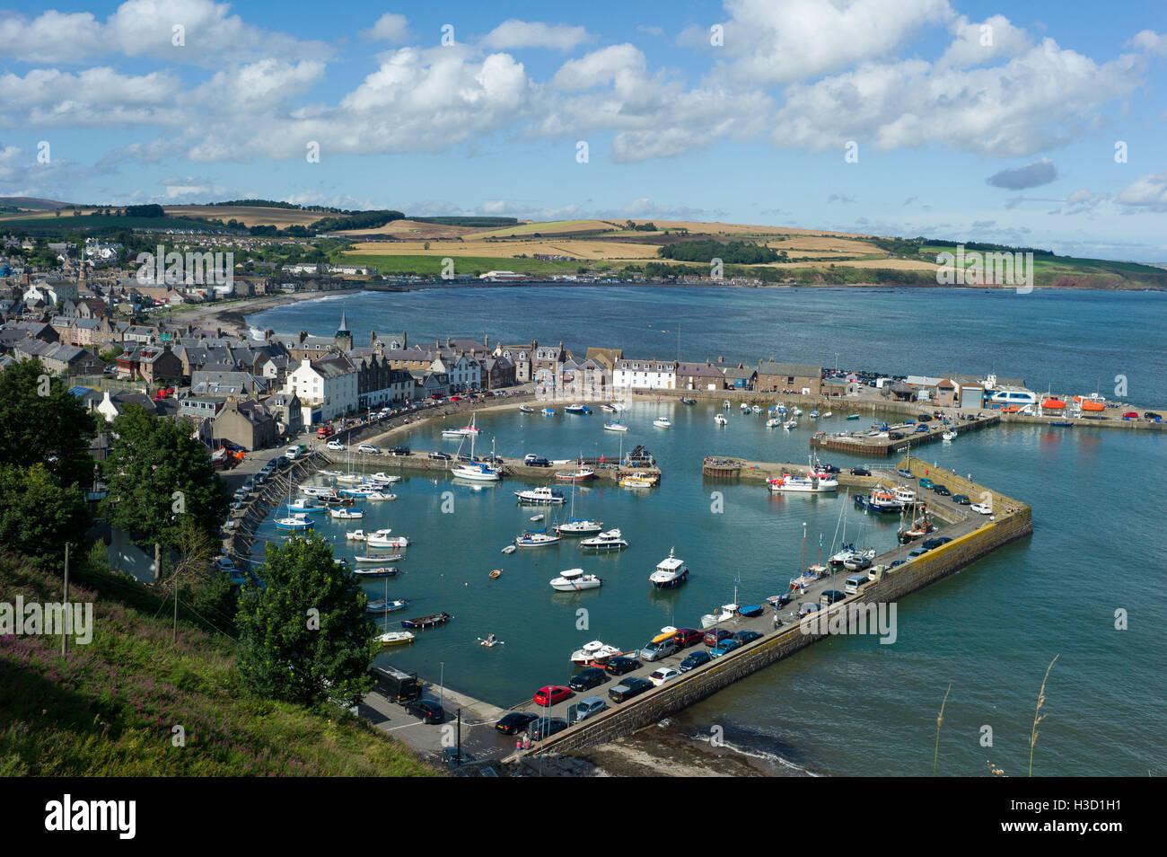 Stonehaven Harbour Aberdeenshire Scotland - Stock Image