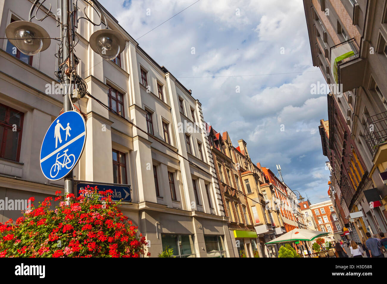 On the streets of Katowice city,  Silesian Metropolis, Poland - Stock Image