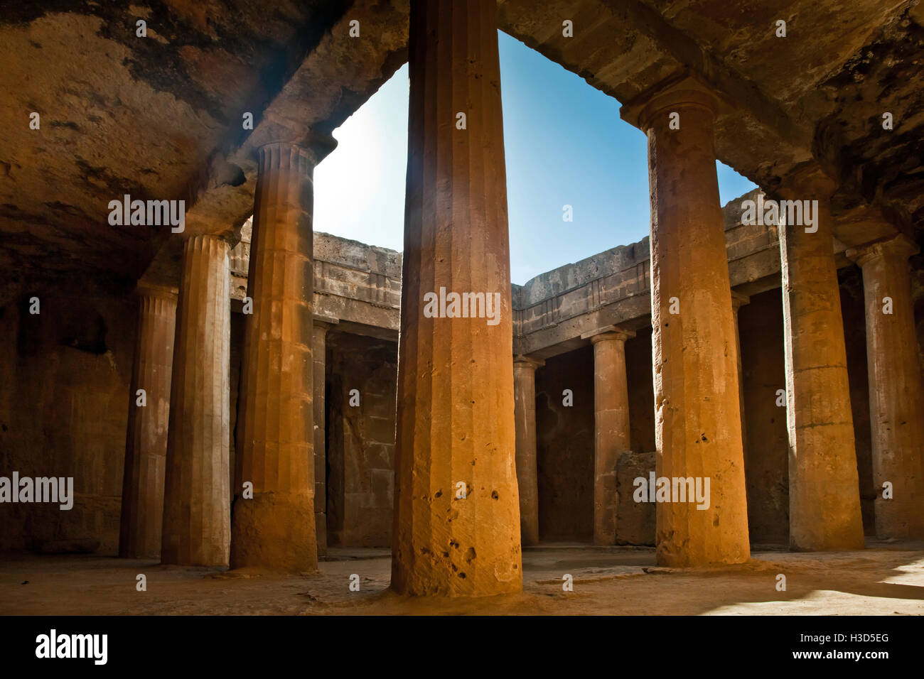 The Tombs of the Kings in Paphos, Cyprus - Stock Image