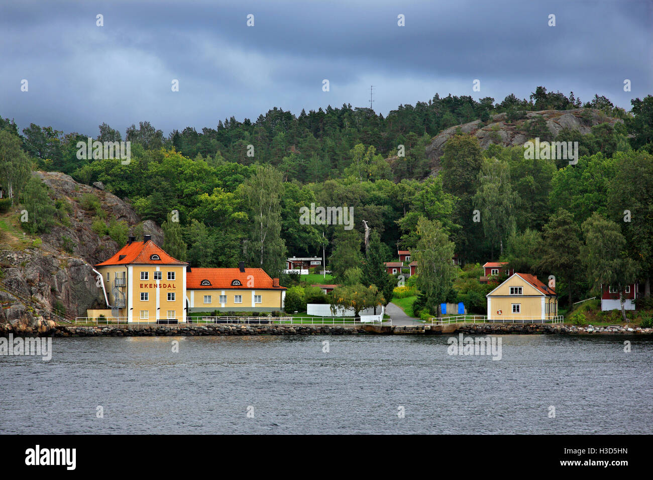 The Anna Johansson - Visborgs holiday cottages in the archipelago of Stockholm, Sweden. - Stock Image