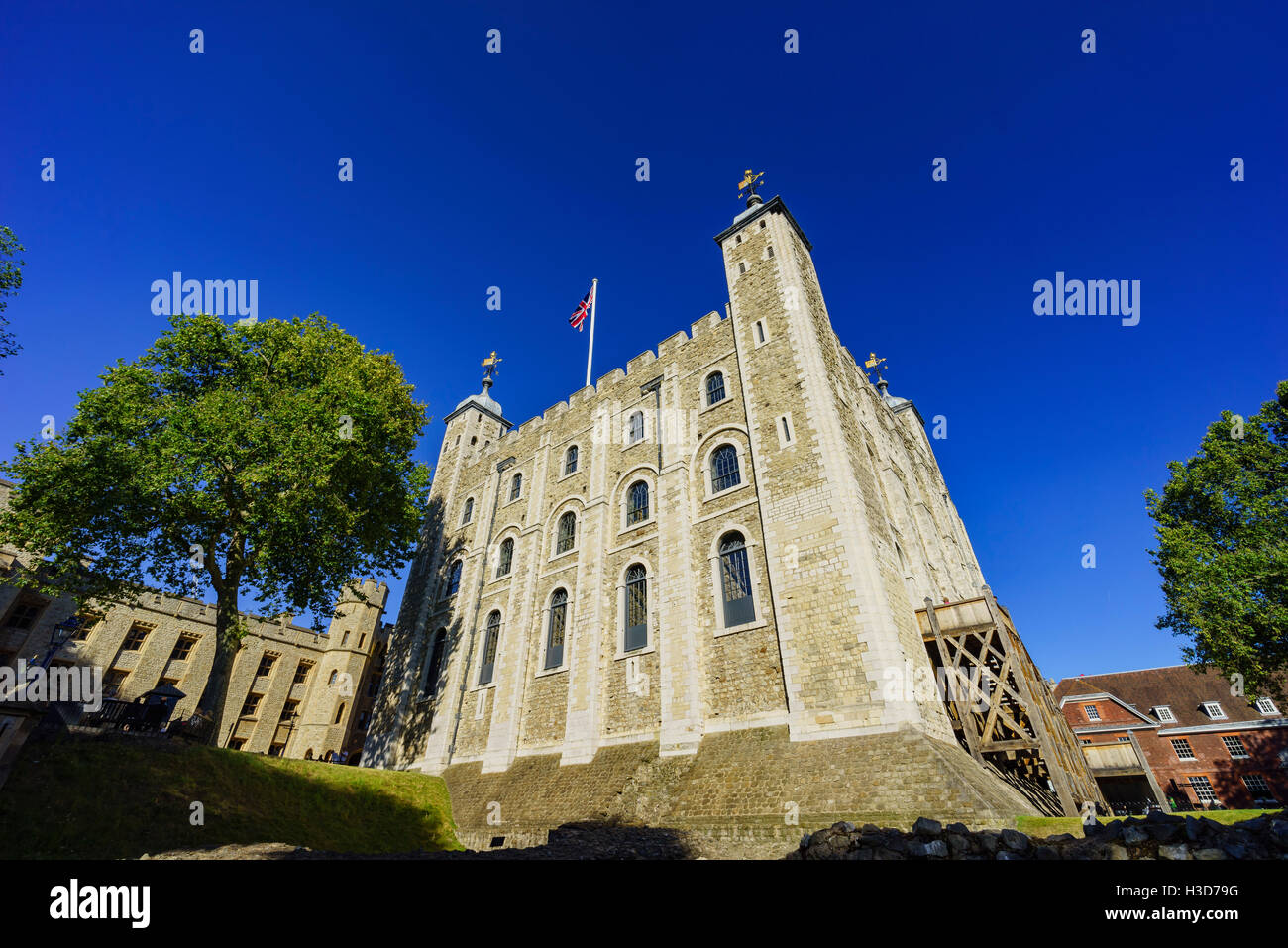 London, SEP 11: The historical and beautiful Tower of London on SEP 11, 2016 at London, United Kingdom - Stock Image
