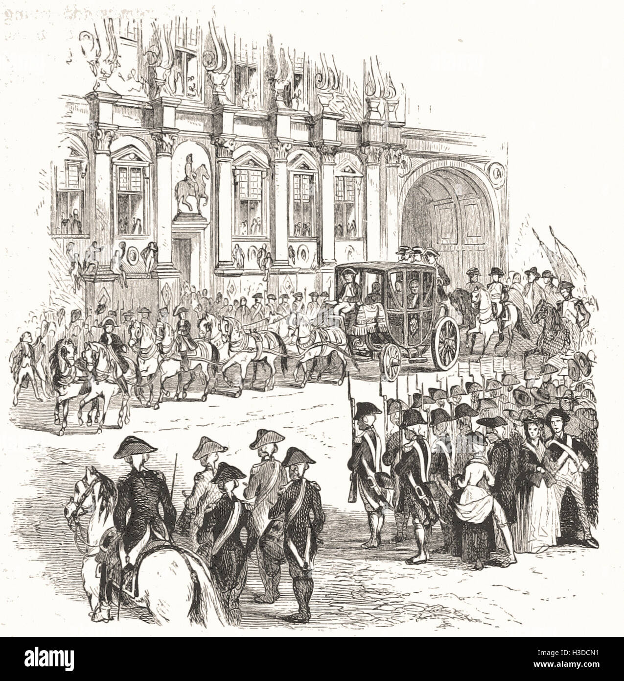 ARRIVAL OF THE KING AT THE HOTEL DE VILLE JULY 17, 1789. - Stock Image