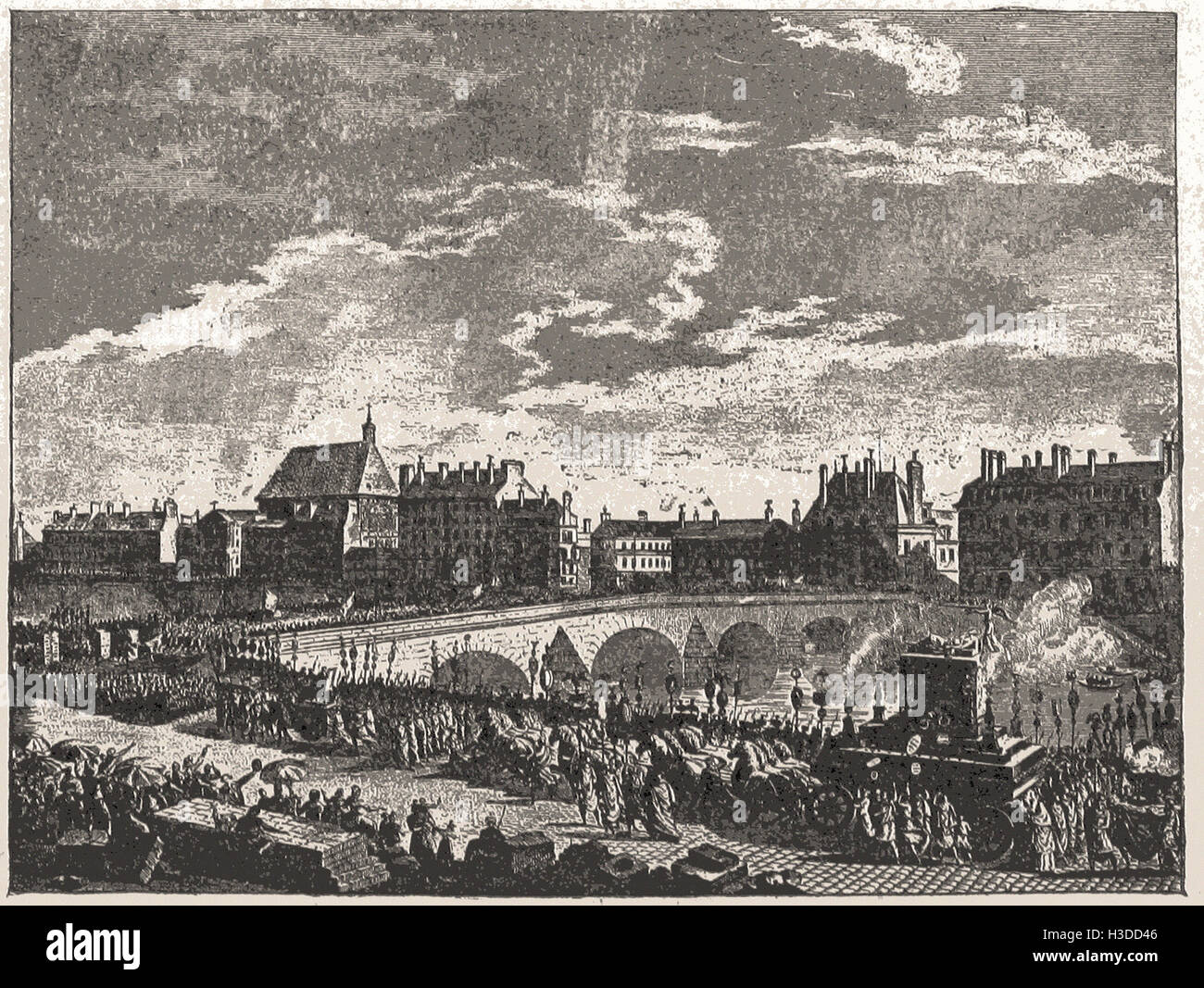FUNERAL OF MIRABEAU, APRIL, 1791 - Stock Image