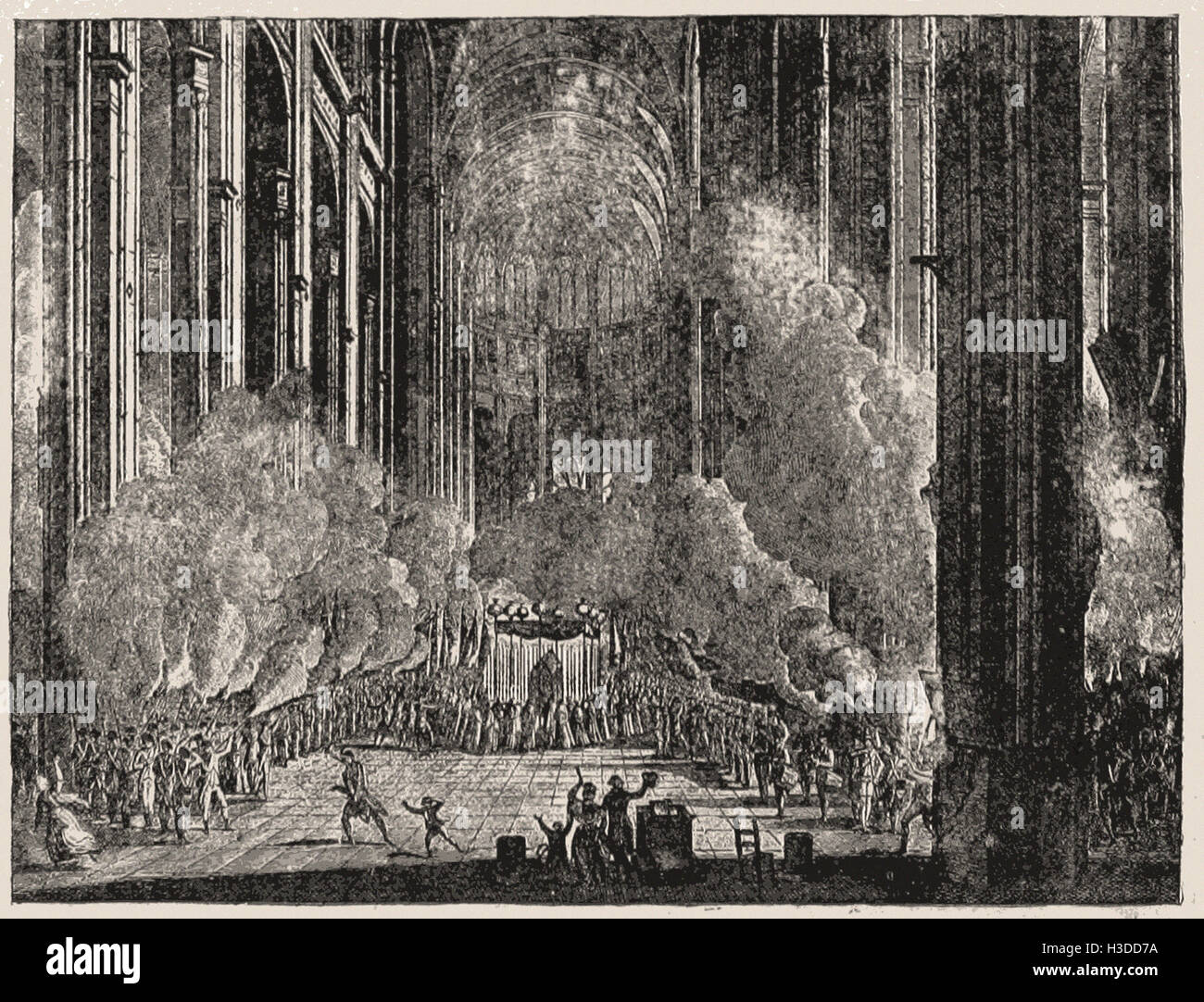 SECOND PART OF THE GRAND CEREMONIES AT NOTRE DAME IN PARIS - Stock Image