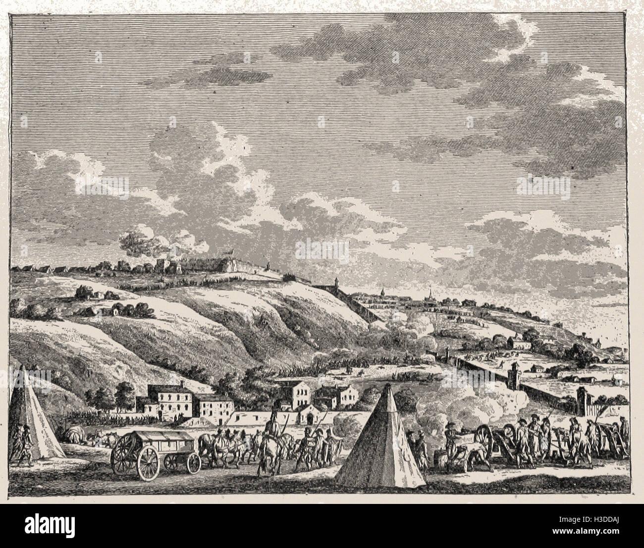 SIEGE OF LYON , OCTOBER, 1793 - Stock Image