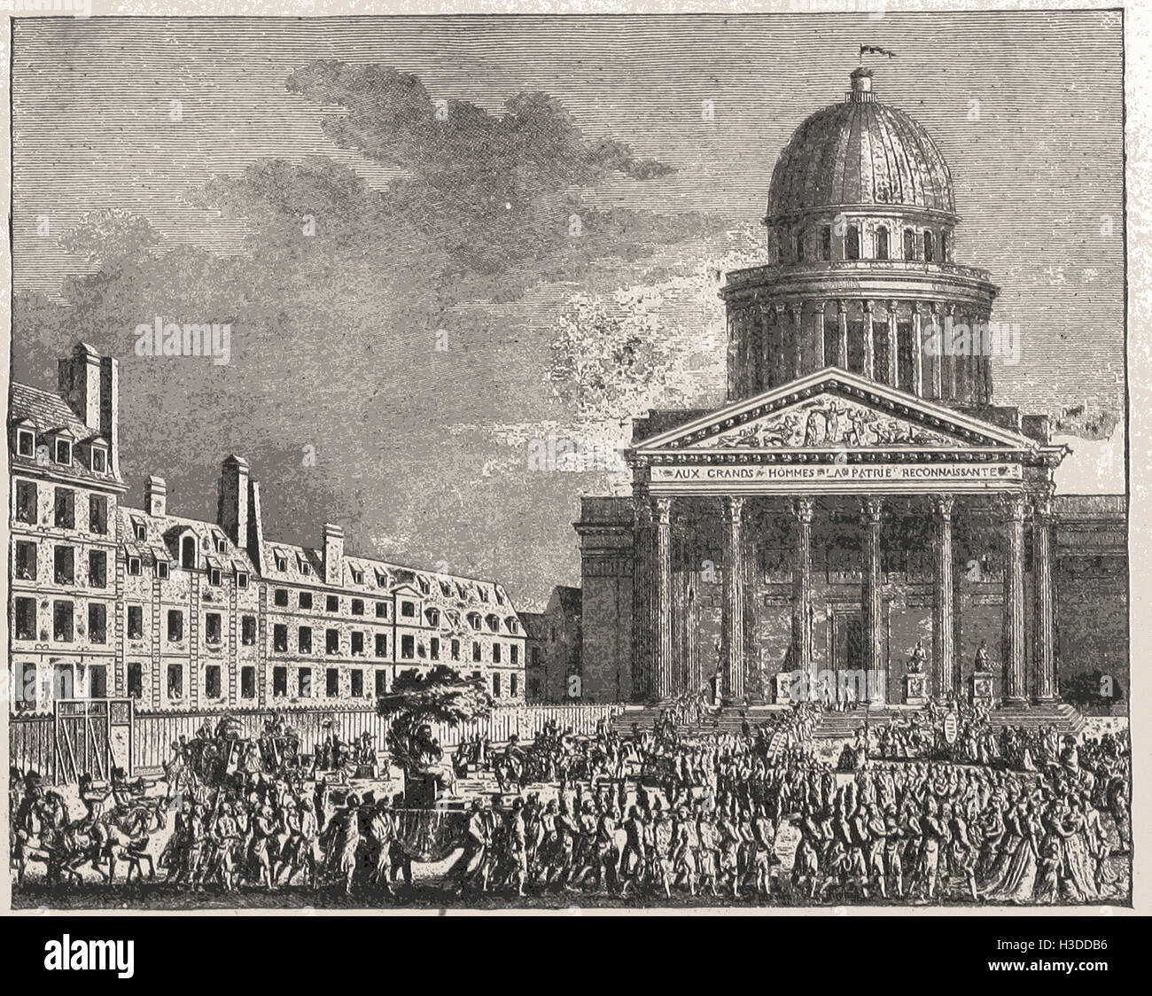 CELEBRATION OF THE RIGHTS OF MAN AT THE PANTHEON AND FUNERAL OF VOLTAIRE,  12TH OF JULY, 1791 - Stock Image