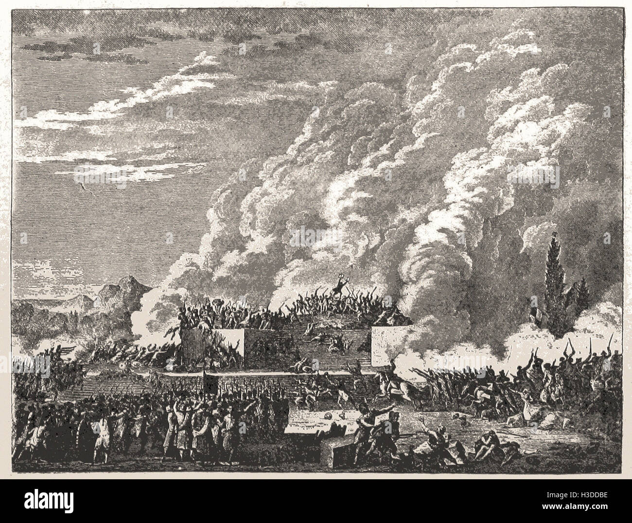 MASSACRE OF THE CHAMP DE MARS, JULY, 1791 - Stock Image