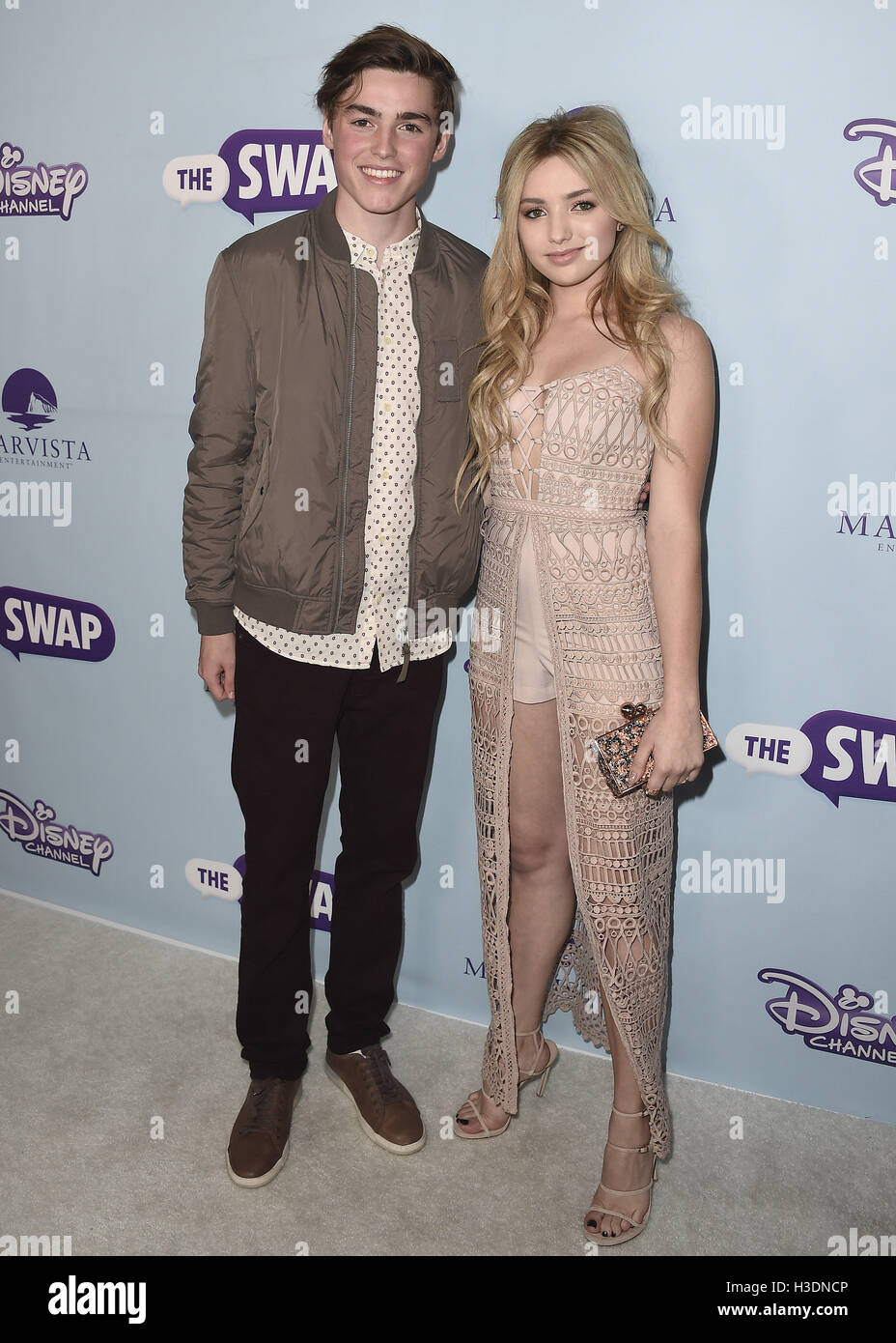 hollywood october 5 spencer list and peyton list at the los stock
