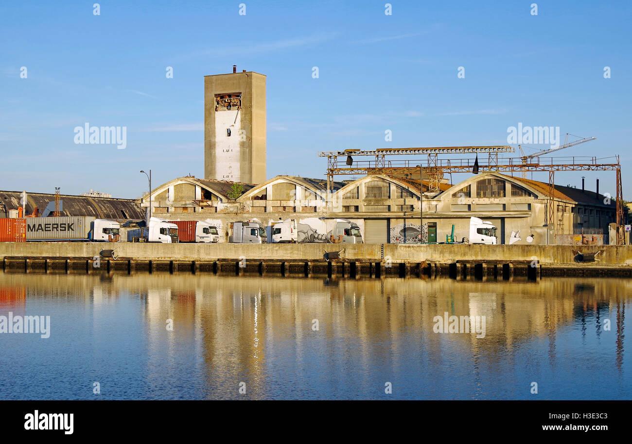Derelict industrial, land alongside canal, awaiting comprehensive development, urban renewal, - Stock Image