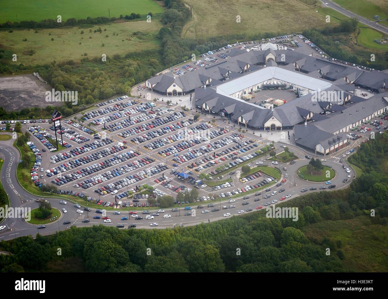 East Midlands Designer Outlet, Mansfield, East Midlands, UK - Stock Image