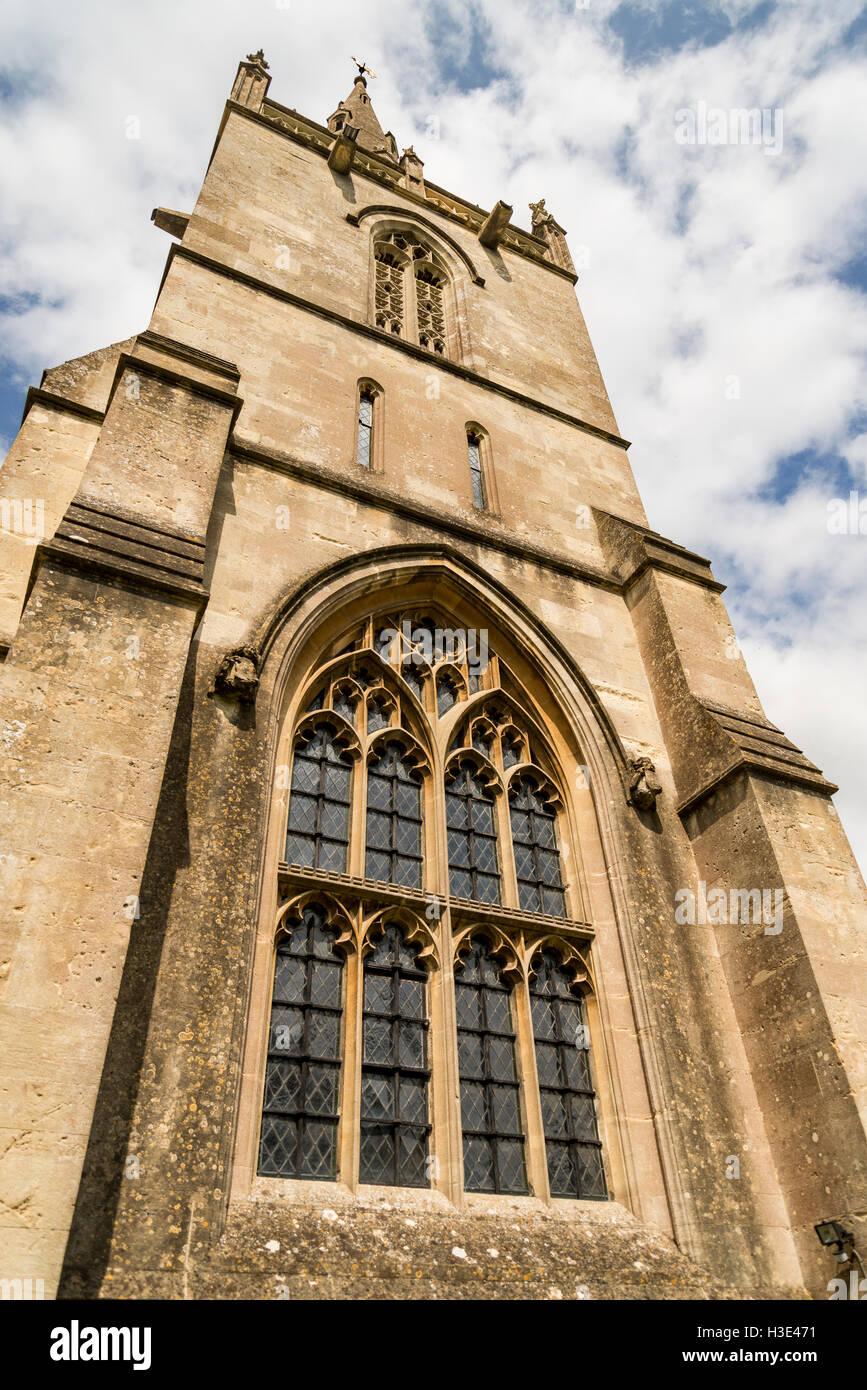 Corsham parish church in Corsham, Cotswolds, UK - Stock Image