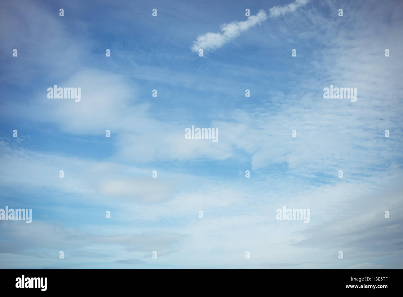 View of cloudy sky - Stock Image