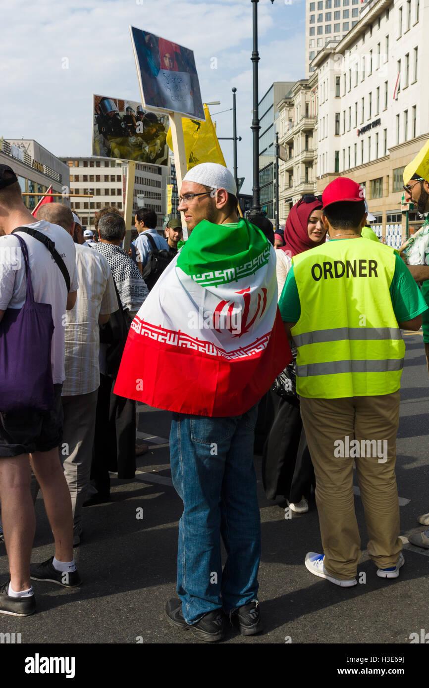 International Quds Day. Berlin. Germany - Stock Image