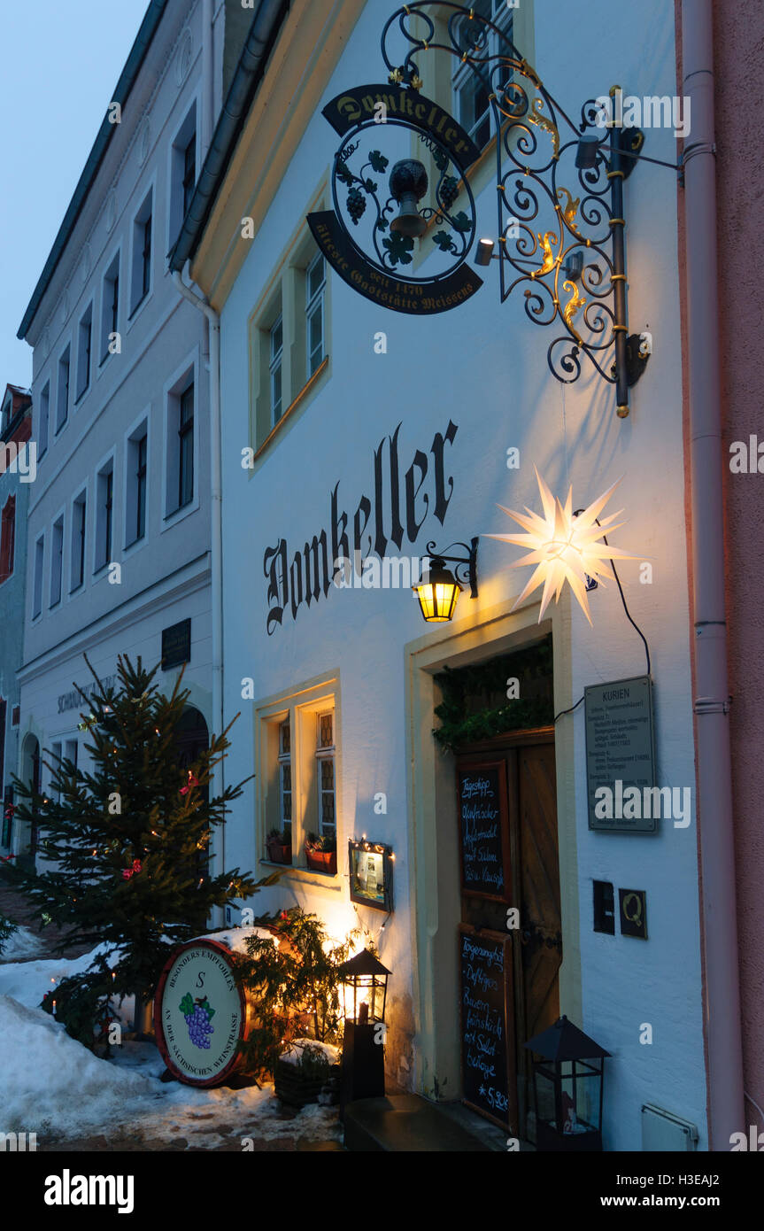 meien restaurant domkeller with christmas decorations sachsen saxony germany - Restaurant Christmas Decorations
