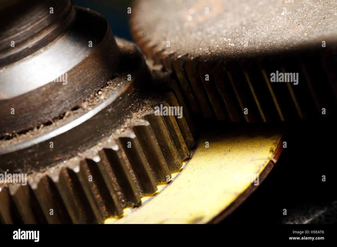 a Iron machine detail close-up , industrial background - Stock Image