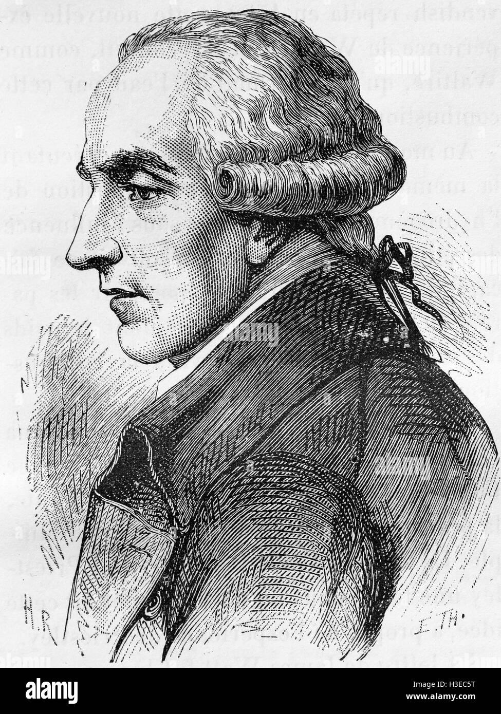 PIERRE-SIMON LAPLACE (1749-1827) French mathematician - Stock Image