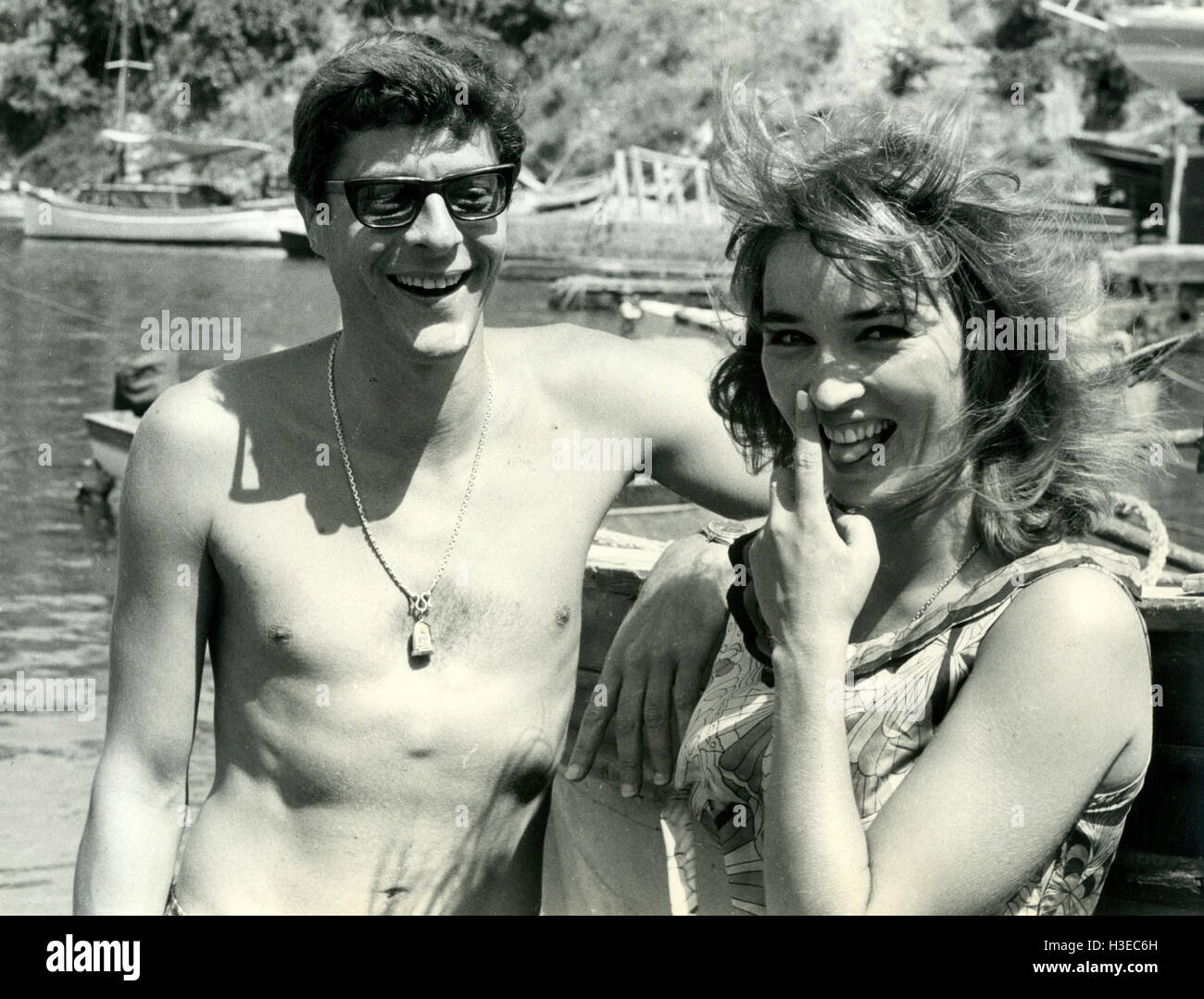 TALITHA POL with husband John Paul Getty Jr in December 1966 - Stock Image