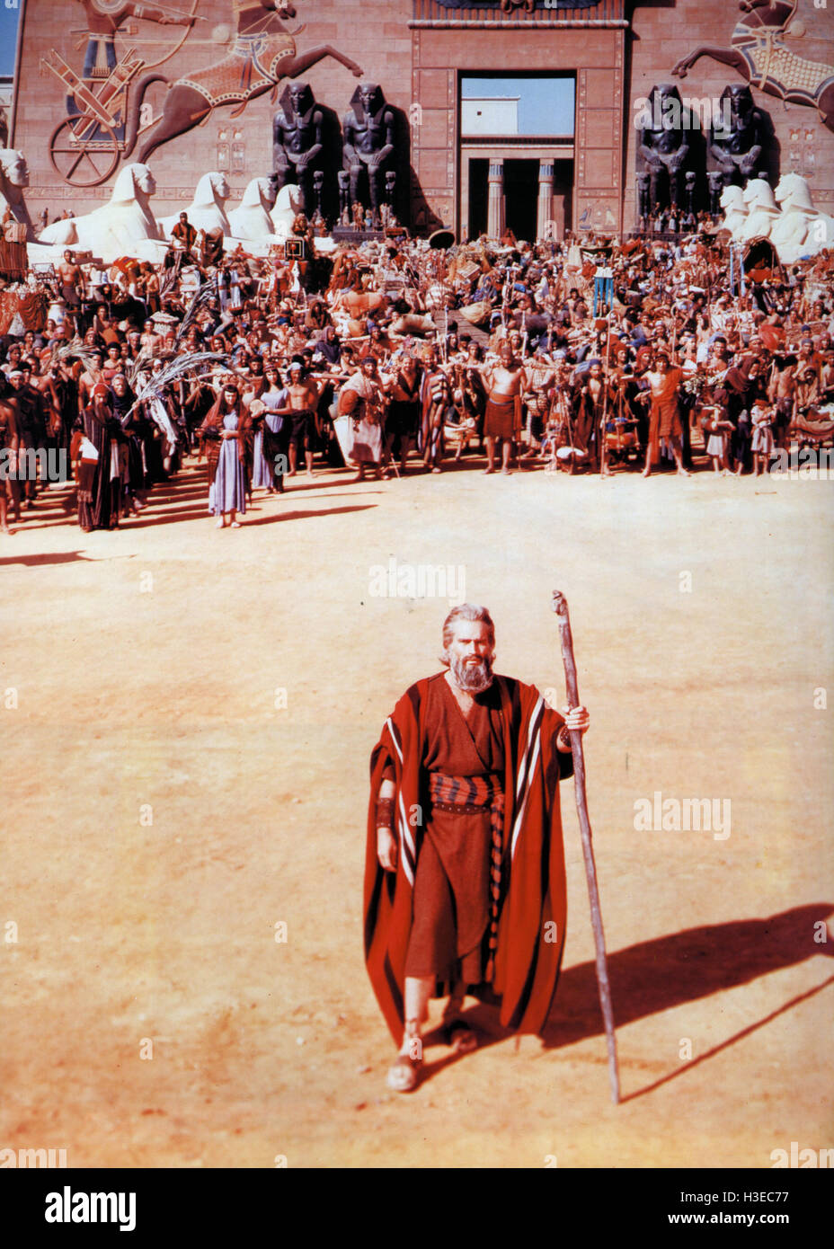 THE TEN COMMANDMENTS 1956 Paramount film with Charlton Heston as Moses - Stock Image