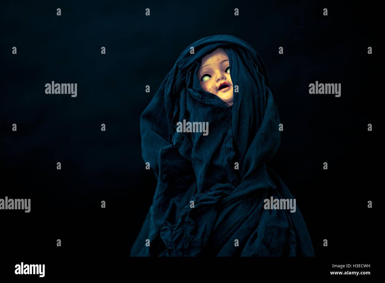 Creepy doll - Stock Image