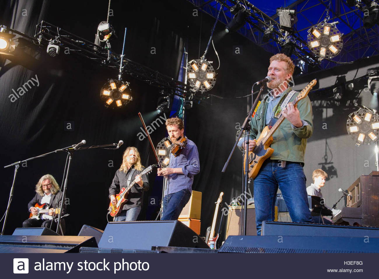 The Frames performing live at Iveagh Gardens, Dublin, Ireland on ...