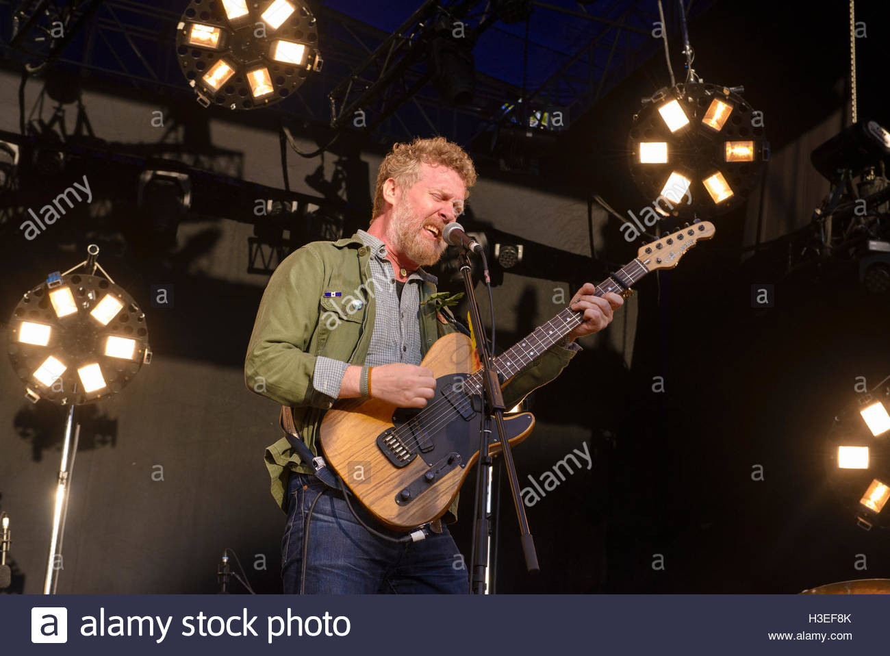 Glen Hansard of The Frames performing live at Iveagh Gardens, Dublin ...