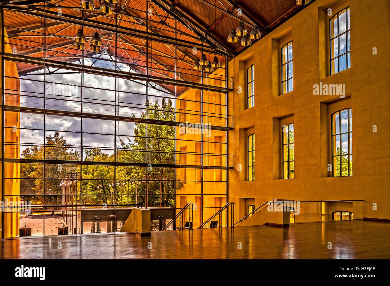 Italy Emilia Romagna Parma Auditorium Paganini Prejected By Renzo Piano - Stock Image