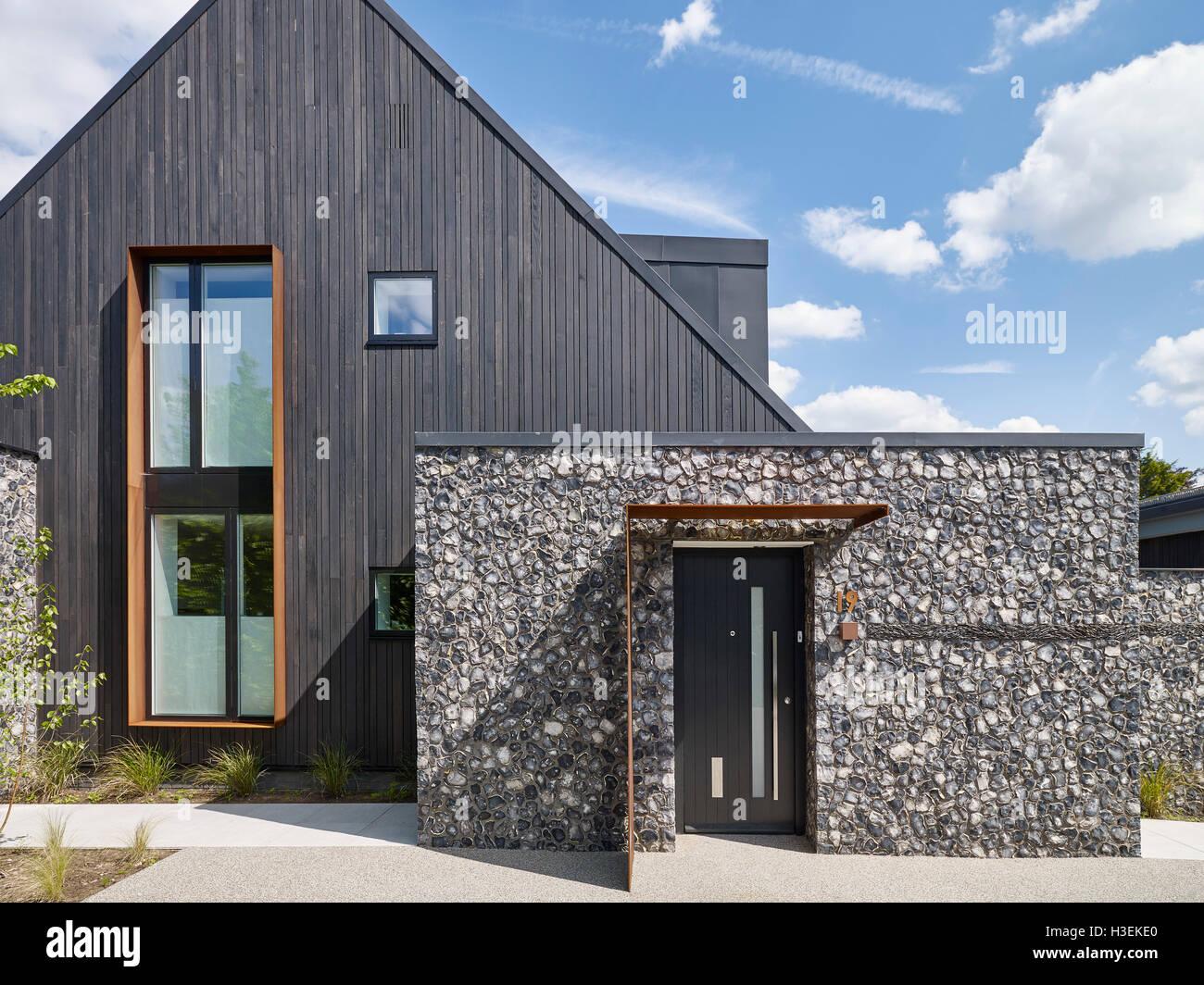 Wood Elevation Uk : Corten steel and home stock photos