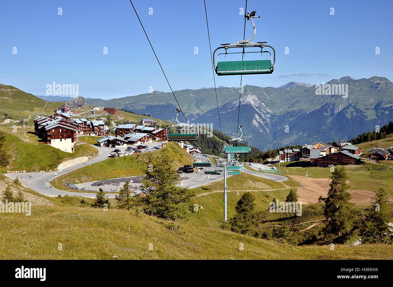 La Plagne in French Alps Stock Photo