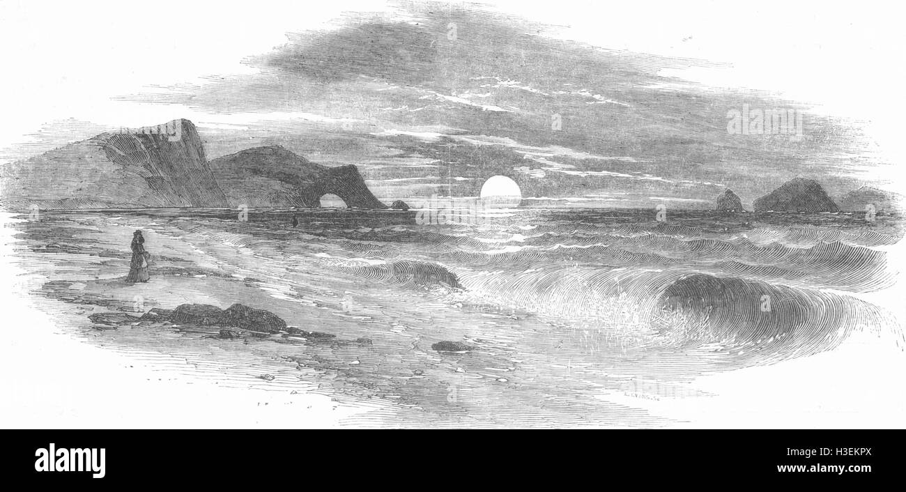 SEASCAPES No Caption 1852. The Illustrated London News - Stock Image