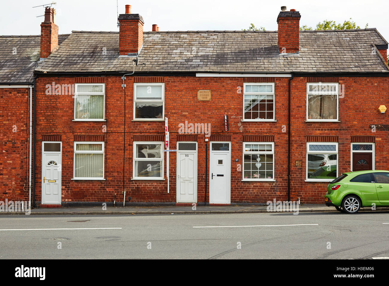Balfour Terrace 1893 in Middlewich, Cheshire - Stock Image
