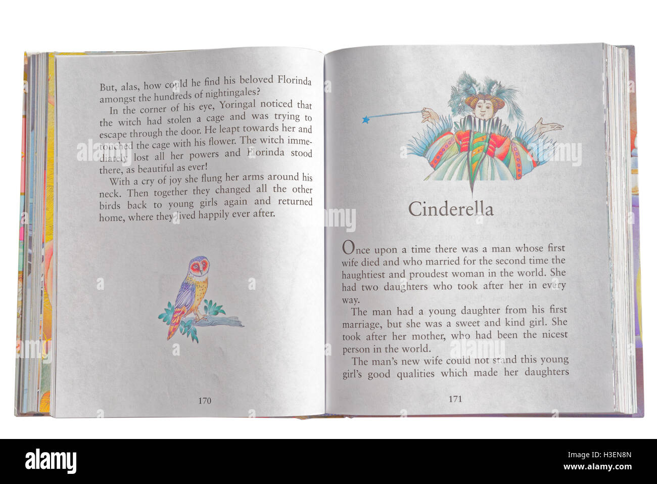 Cinderella in a book of Fairy Tales - Stock Image