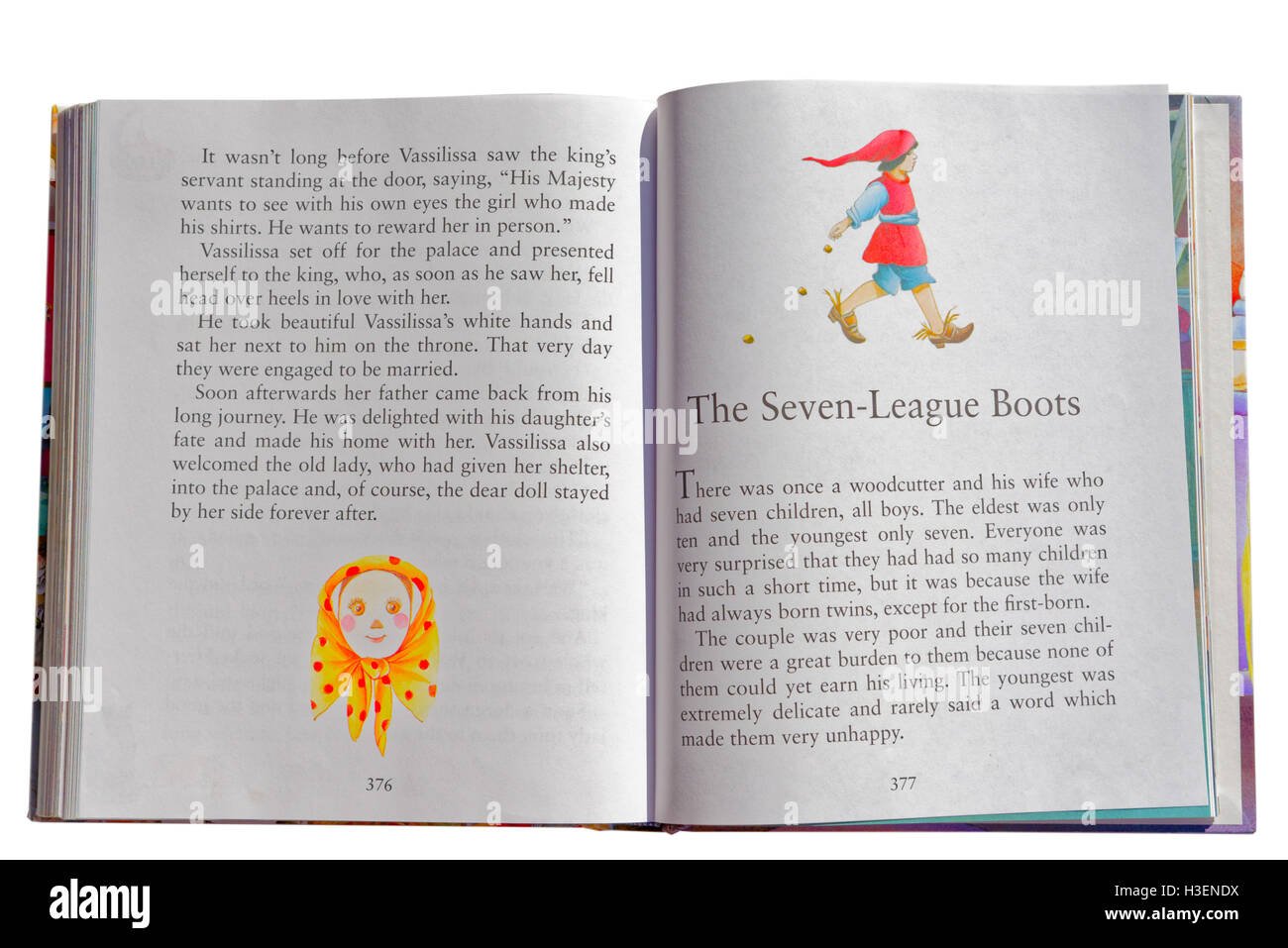 The Seven League Boots in a book of Fairy Tales - Stock Image