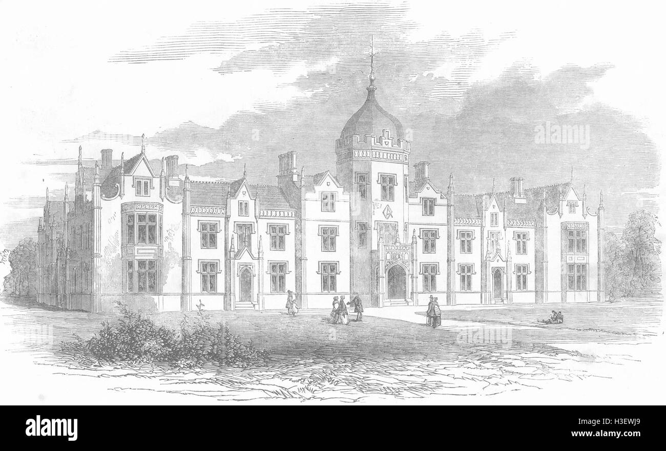 Devon Inauguration Of The New Grammar School At Crediton Art Antique Print 1860
