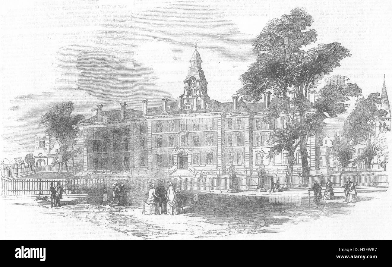 LONDON City of London Chest Hospital, Victoria Park 1851. Illustrated London News - Stock Image