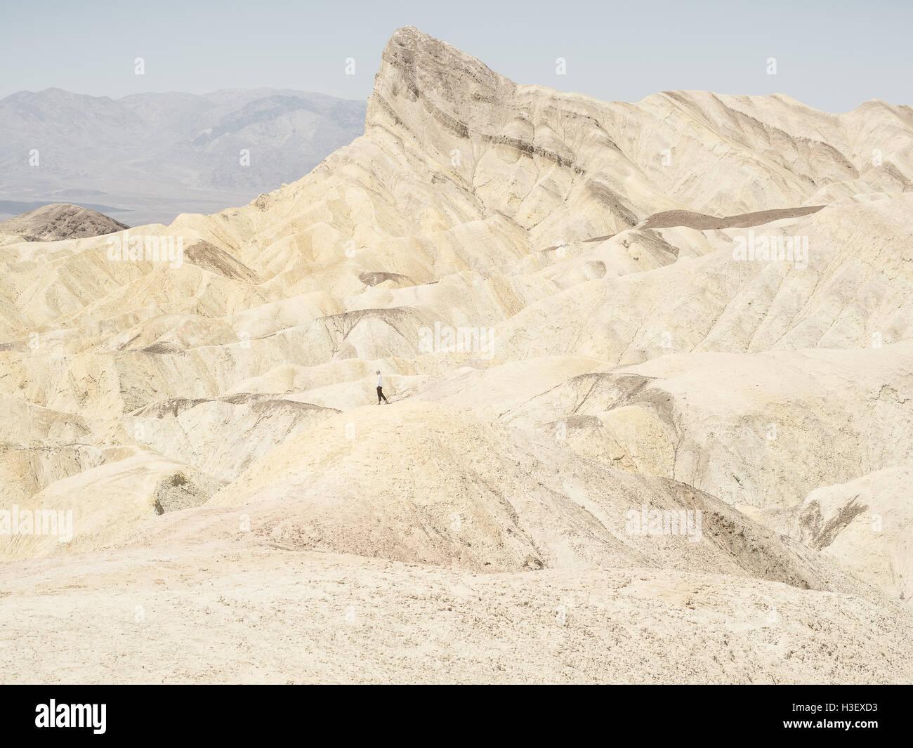 Zabriskie Point - Death Valley National Park - Stock Image
