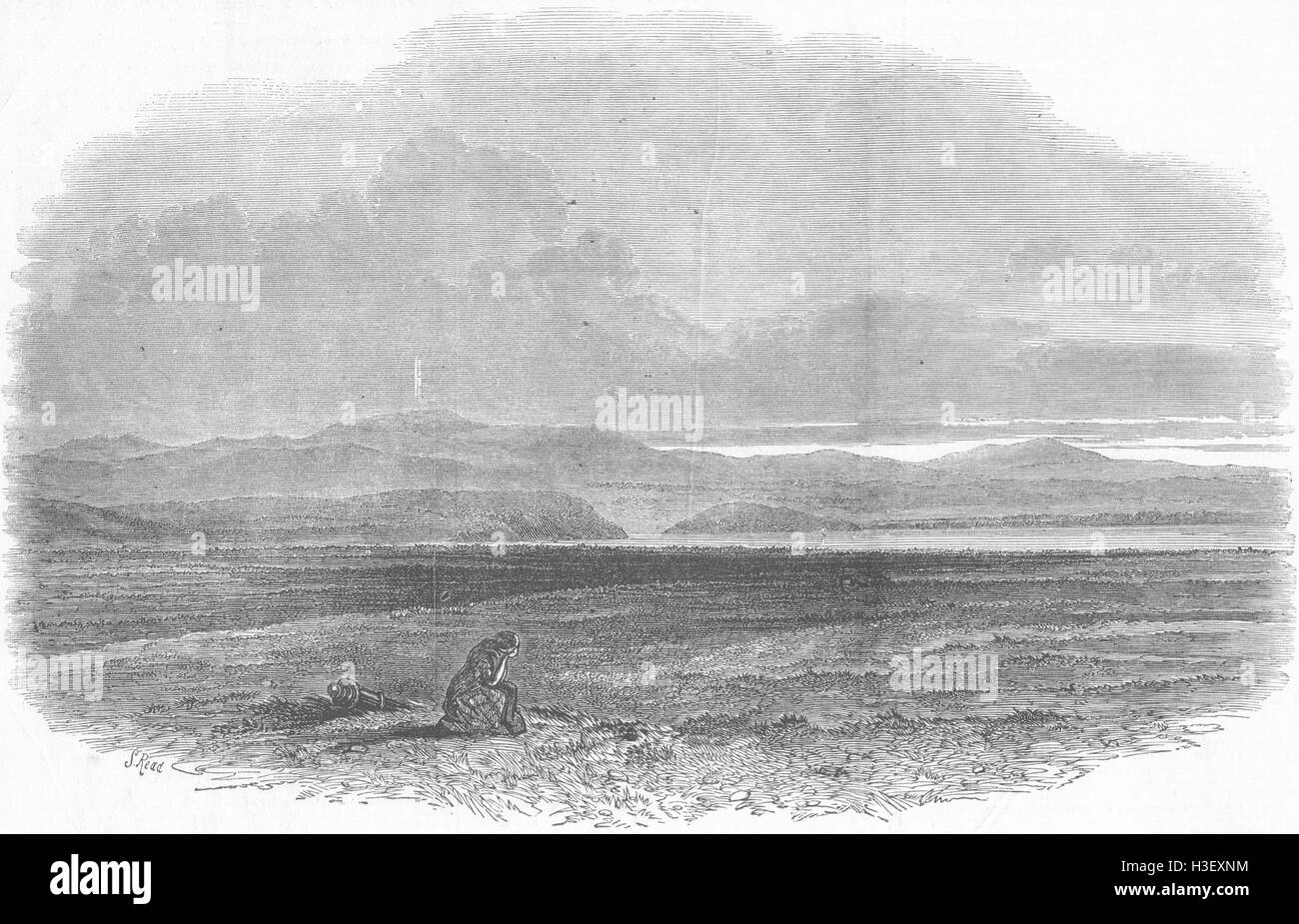 Culloden Moor 1898 old antique vintage print picture Great Glen of SCOTLAND